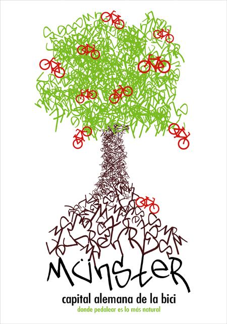 Münster, Alemania, ciudad de la bici, árbol, Publicity Cambrils, Publicidad